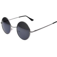 Forma redonda borde negro moda mujer gafas de sol