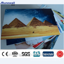 Alunewall 2000mm width A2 and B1 Grade certificated fireproof ACP wall panels 2-6mm thickness color aluminum composite panel
