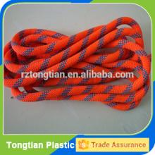 Corda de poliéster trançada colorida com núcleo de aço