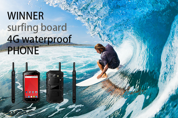 WINNER surfing board 4G waterproof PHONE