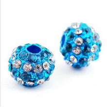 Yiwu Factory prix bon marché en gros alliage + diamant shamballa perles