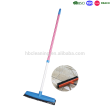telescopic handle rubber broom, indoor sweeping floor broom