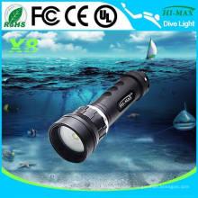 Magnetischer Drehschalter ein / aus Unterwasser LED Taschenlampe