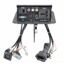 HDMI/VGA/RCA/RJ45/USB/Power Plug/Audio Connectors Gas Popup Panel (Desktop socket)