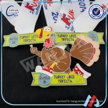 turkey legs trifecta duck toy custom medal