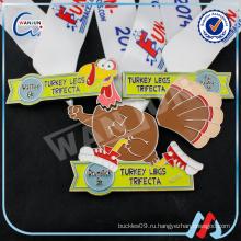 Индейка ноги trifecta утка игрушка пользовательские медаль