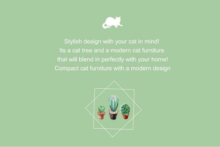 Desert Style Pet Tree Toweling Cat Scratcher Furniture Wood Cat Tree