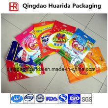 Pó de lavagem plástico de três selos laterais / saco de empacotamento detergente para a roupa