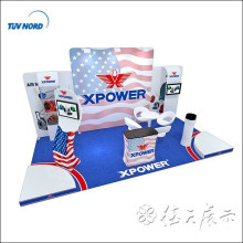 Fashionable fast tension fabric trade show display customized design booth exhibition and produce with lower price