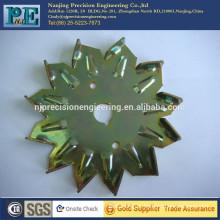 china zinc plating metal stamping bending cover for hardware