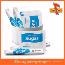 High quality foil plastic cane sugar sachet packing with gravuring printing