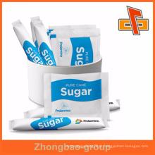 Embalagem de sachê de açúcar de cana de plástico de alta qualidade com impressão de gravura