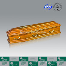European Style Solid Poplar Wood Funeral Coffin&Casket Cheap Coffin