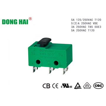 Mini microinterruptor verde de doble polo