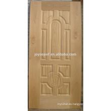Panel de madera de la puerta de diseño de piel de puerta de teca hdf para el hogar