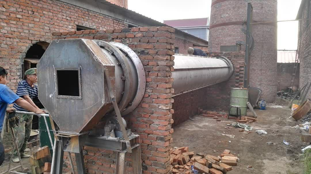 External heat drum type drying furnace