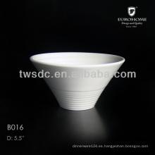 cupcake de porcelana blanca tazones de fuente, tazón de fuente de cerámica de la Magdalena, taza de loza de la Magdalena