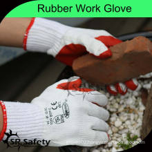 SRSAFETY 10G Knitted Polycotton Industrial rubber Cotton Gloves