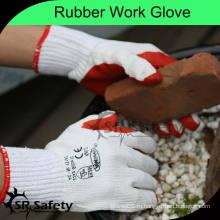 SRSAFETY 10G Трикотажные поликотлы Промышленные резиновые хлопчатобумажные перчатки