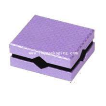 Caja de joyería de papel de lujo de regalo de cartón