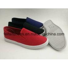 Großhandelsmänner Segeltuch-Einspritzungs-Schuhe, Beleg-auf beiläufigem Schuhwaren-Müßiggänger