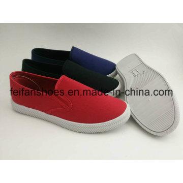 Zapatos al por mayor de la inyección de la lona de los hombres, holgazán casual del calzado del Slip-on