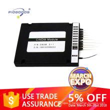 8 canaux CWDM mux demux avec des connecteurs chinois fournisseur, prix usine