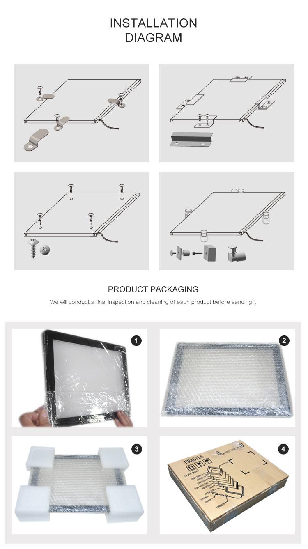 Customizable Led Slim City Information Lit Led Flat Recessed Ceiling Panel Light