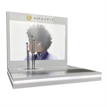 Apex transparent akryl hörlurar display stativ