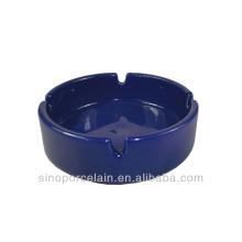 Blue-glazed Round Ceramic Ashtray for BS140122D