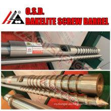 tornillo y barril para máquina de moldeo por inyección / baquelita