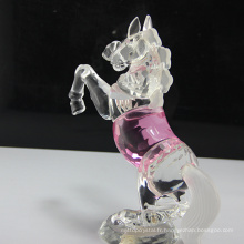 figurines de cheval en verre animal en cristal