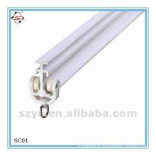 High quality PVC plastic curved curtain track for project