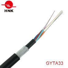 2-144 Cores Loose Tube Câble d'acier blindé Câble optique GYTA33