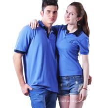 2016 preto quente do lazer do casal camiseta polo