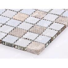 soporte de malla de mosaico 4x4mm malla de poliéster gran stock fábrica
