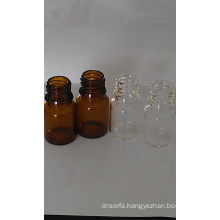 5ml Tubular Amber Mini Glass Vials for Cosmetic Packing