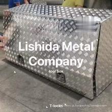 Caixa de ferramentas resistente do caminhão de alumínio impermeável feito sob encomenda para o ute Caixa de ferramentas resistente do caminhão de alumínio impermeável feito sob encomenda para o ute