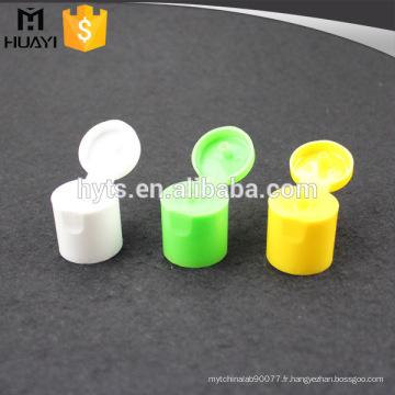 24/415 bouchon de bouteille cosmétique flip top avec matériel pp