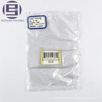 Klare PE-Flachboden-Verpackungstasche