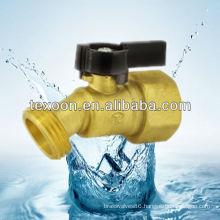 Hose Bibb Quarter-Turn Low Pressure Brass Valve No-kink, FIP to Hose