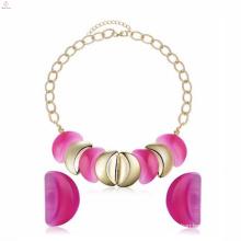 Fashion Love Necklace Plastic Earrings Stud Jewelry Set For Girlfriend