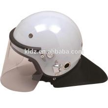 Anti-Roit capacete PC / ABS preto / branco francês para equipamento militar