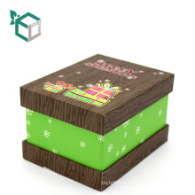 Customization matt lamination Christmas Present gift box