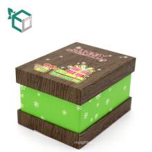 Настройки матовая Рождественский подарок коробка подарка слоения