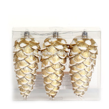 High Quality Christmas Plastic Pinecone Ornaments