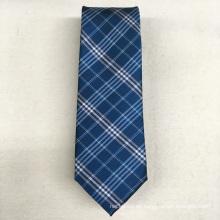 Alta visibilidad al por mayor de etiqueta privada verde verificación tejida de los hombres de poliéster corbata