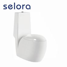 Egg shape one-piece toilet seat bidet installation