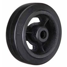 Черное резиновое чугунное колесо Heavy Duty Caster Wheel