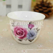 Wholesale Price Different Beautiful Flowers Printing Ceramic Red Solo Cups